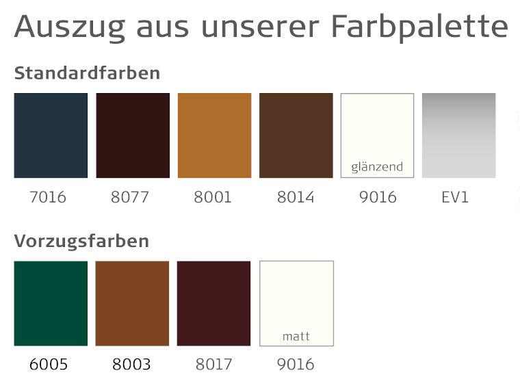 Standard- und Vorzugsfarben