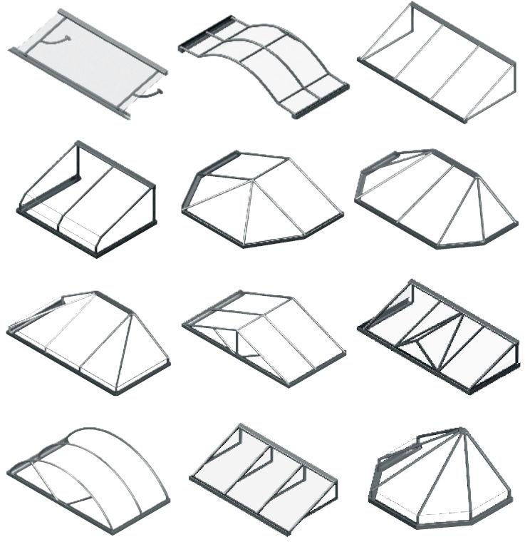 Auswahl an Vordach-Modellen